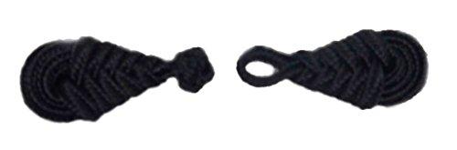 組紐 中国服ボタン チャイナ・ボタン 五個組1セット リーフ 黒