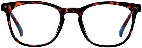 FLOUCO unisex Blaulichtfilter brille, UV-Kopfschmerz Brille [Verringerung der Augenbelastung] Blendschutzbeschichtung mit blaulichtfilter, Superleichte Materialien TR90 Vollrandbrille, Leopard…