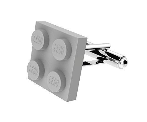LEGO FLACHE PLATTE Brick Manschettenknöpfe VERSILBERT - Hochzeit Bräutigam Herren Geschenk - grau