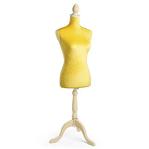 Beautify Weibliche Schneiderpuppe Damenbüste Schneiderbüste mit Verstellbarer Höhe und Stativ - UK Größe 36/38 – Marineblau und schwarz (Rosa)