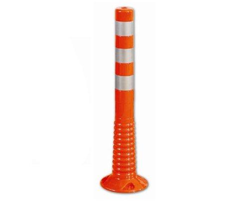 zum Aufd/übeln orangerot mit wei/ß reflektierenden Folienstreifen 1000mm hoch FLEXI-POLLER /ø 80mm