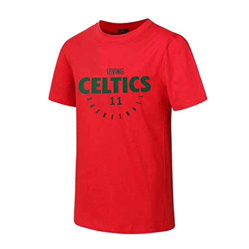 CHANGRAN Camiseta de Baloncesto de Verano Boston Celtics # 11 Irving Sports de Manga Corta Securamiento rápido Traje de Entrenamiento Apariencia Traje Rojo,3XL