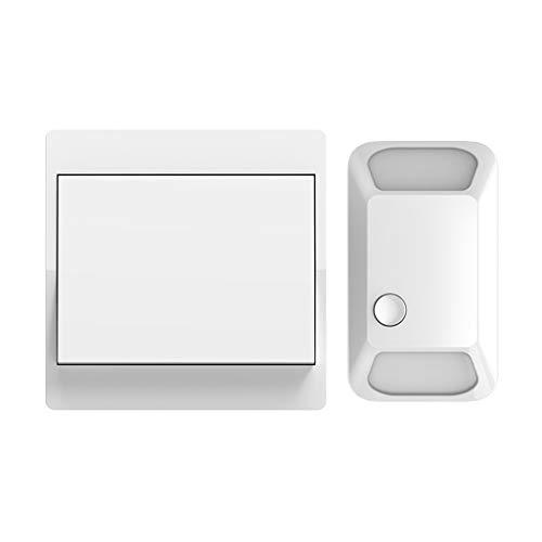 CXXDD Interruptor inalámbrico autoalimentado Control Remoto pulsador 110-220V Panel Inteligente de Pared del hogar Sin batería 1 2 pandillas 1 2 Controlador (Color : White)