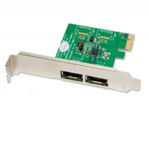 Syba 2 Port eSATA 6Gbps PCI-Express x1 Card (SY-PEX40038)