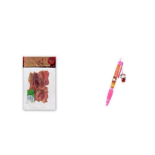 [2点セット] 薫製達人 豚バラベーコン燻製(60g)[飛騨山椒付き]・飛騨さるぼぼだっこキティ シャープペン/子宝・安産祈願 //