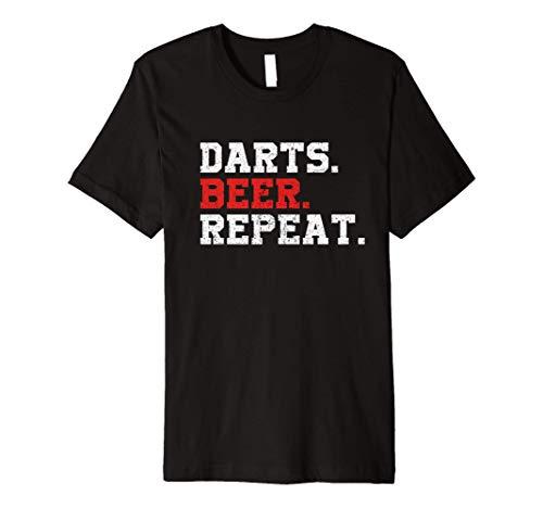 Darts Beer Repeat Dart-Player Funny Drinking T-Shirt