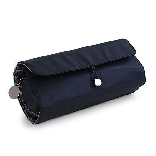 Grande Capacité 1 pcs sac de maquillage Brosse Organisateur Voyage cosmétiques sac multifonctions pinceaux de maquillage Protector Outils de maquillage Coffin Laminage Pouch (Color : Black)