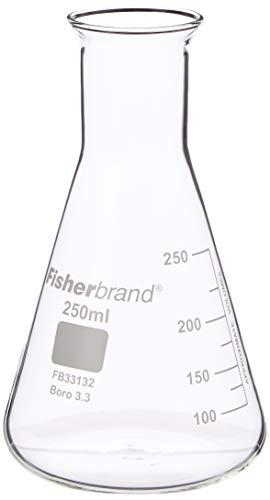 Frasco cónico de vidrio 250ml | Frasco de medición, Frasco molecular, Frasco de Erlenmeyer, Frasco de química