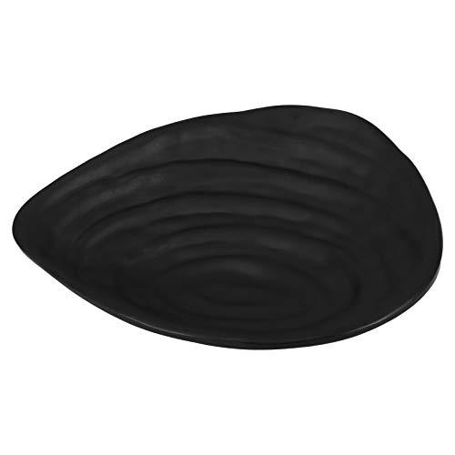 Cabilock Bandeja decorativa de melamina para joyas, bandeja de salsa negra, pieza central para joyas, organizador de mesa, soporte para llaves para alimentos pendientes
