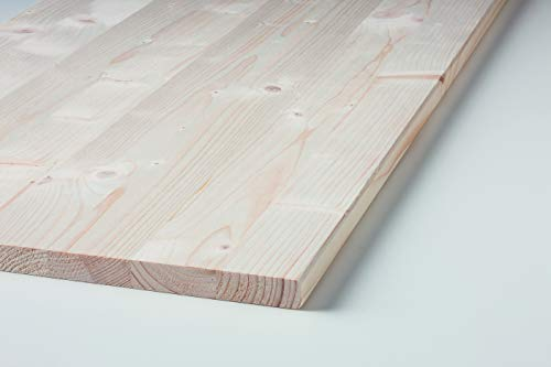 Klenk Holz 002744 (Leimholzplatte) Fichte 18x400x800mm Einschicht Massivholzplatte