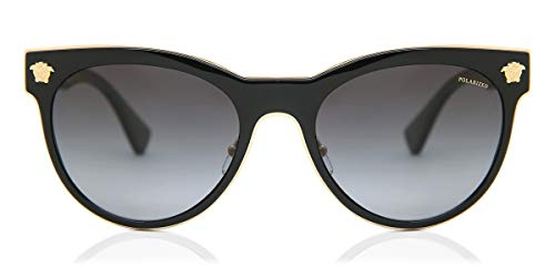 Versace Woman Sunglasses, Black Lenses Metal Frame, 54mm