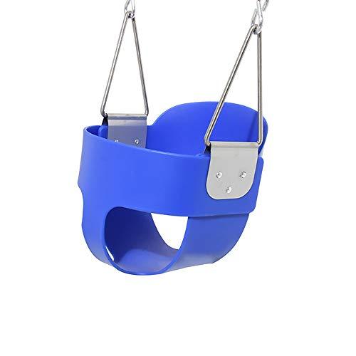 DLSMB Columpio para Niños Volver Alta bebé Asiento del Columpio, apropiada Forma Columpio, Columpio Asiento con función de Seguridad Accesorios Zona de Juegos (Color : Blue, Size : 32x26x29cm)