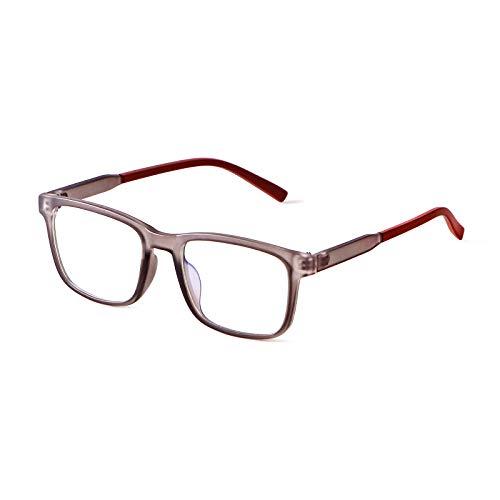 ADE WU Kinderbrille Ohne Stärke Blaulichtfilter Rechteckig Brillenfassung Anti Blaulicht Brillen TR90 Anti Müdigkeit Brillengestell für Mädchen und Jungen