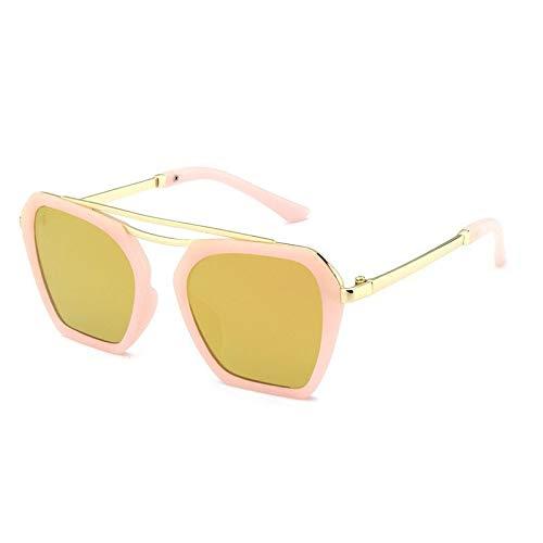 Gafas Gafas De Sol Simples For Niños Gafas De Sol Cuadradas De Metal Gafas De Sol Anti-UV (Color : B)