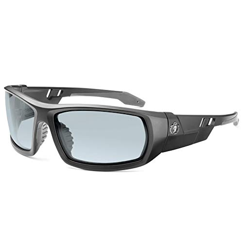 Ergodyne Skullerz Odin Safety Glasses- Matte Black, Anti-Fog Clear Lens