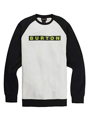 Burton Mens Vault Crew, Stout White, Medium
