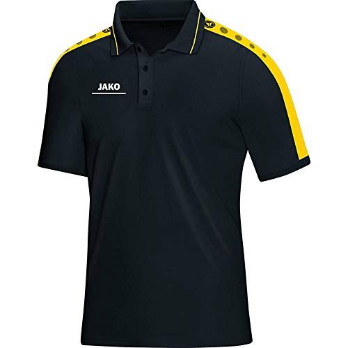 JAKO Herren Polo T-Shirt Striker, schwarz/citro, S