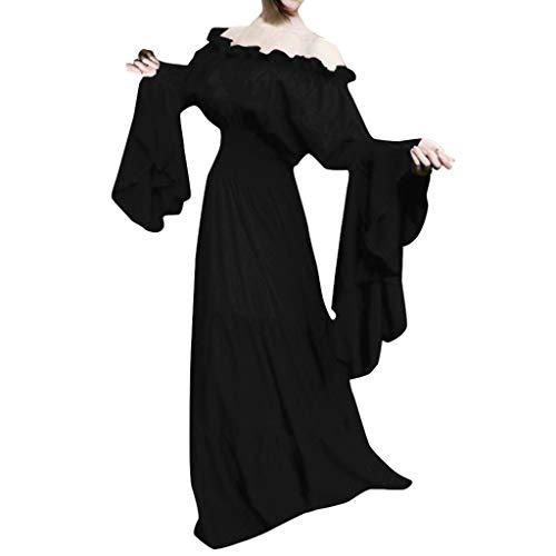 LRWEY Mittelalter Damen Einfarbig Elegant Frauen Trenchcoat Open Front Cardigan Jacke Mantel Cape Poncho 1950er Vintage Kleid Retro Mittelalter Renaissance Cosplay Oversized S-5XL