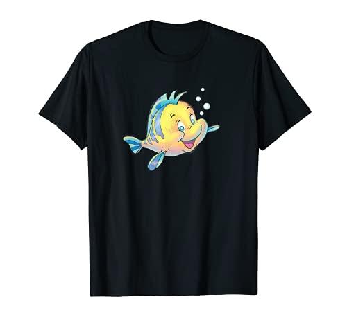 Disney The Little Mermaid Flounder Bubbles T-Shirt
