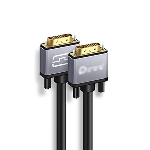 KYAM Cable de Video Digital Cable DVI DVI- D 24 + 1 Cable de Video Cáscara de aleación y Chapado en Oro para Juegos, DVD, computadora portátil, TV y proyector Cable Monitor PC (tamaño : 1.5m)