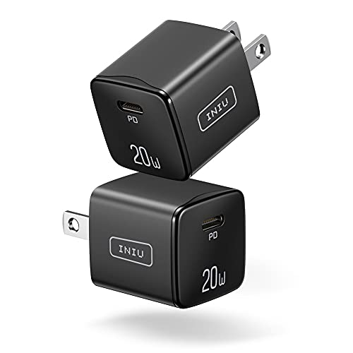 USB C Charger, [2 PACK] INIU 20W FAST Wall Charger for iPhone 12 Power Adapter Mini Type C Quick Charging Plug for iPhone 12 11 Mini Pro Max XS X XR Samsung Galaxy Google Pixel LG iPad Airpods Pro etc