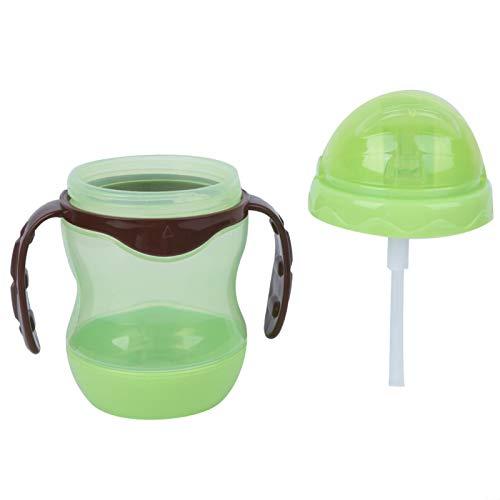 KAKAKE Taza de alimentación para bebés, Taza de Entrenamiento para sorber Antigoteo Suave y Flexible Puerto de válvula de Flujo múltiple Incorporado Seguro y Duradero para Beber