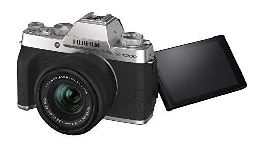 FUJIFILMミラーレス一眼カメラX-T200レンズキットシルバーX-T200LK-S