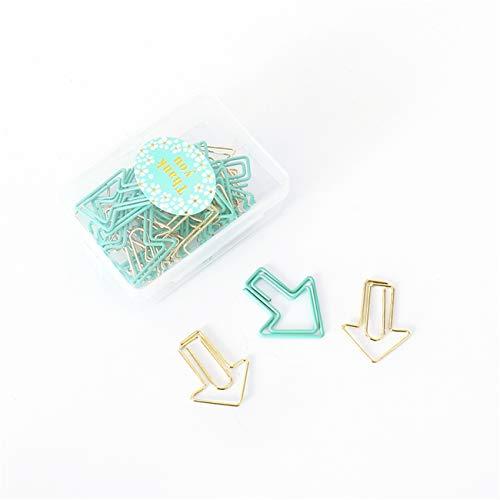 Mix Flecha Forma Marcadores Clips de Papel Pinzas de Papel Metal PaperClips para Estudiante (10)