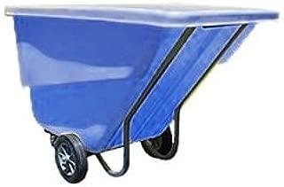 C.R. Daniels 523005-BLU Tilt Truck, 2 yd. Heavy Duty, Rotational Molded, Polyethylene Body, 2300 lb. Capacity, Blue, 83