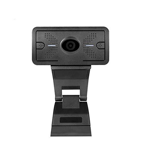 Gycdwjh Webcam,Video 1080P HD para Videollamada Transmisión en Vivo Comando Remoto de Emergencia Micrófono de Reducción de Ruido Incorporado
