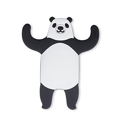 Animal para refrigerador Gancho de Gancho de Cocina Desmontable Hook de la Llave de casa Titular de la Llave de la Pared Tanque de Agua Colgante de la Pared Severo Gancho de Pared (Color : Panda)