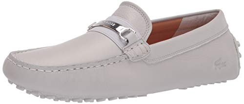 Lacoste Herren Ansted Driving Style Loafer, Grau (grau/Silber), 42.5 EU