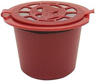 Kit 6 Cápsulas Nespresso Reutilizável Recarregável Vermelho + acessórios