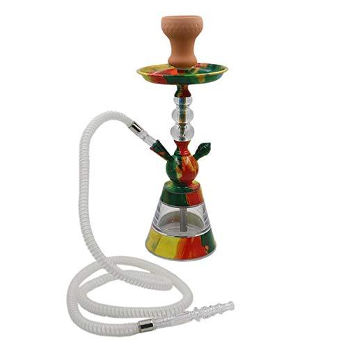 Arabisch bar KTV grote middelgrote kleine trompet glazen waterpijp filterbuis buismateriaal pasta mond koolstof waterpijp volledige set (willekeurige kleuren)