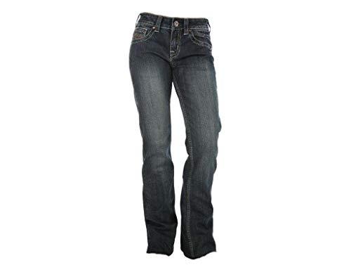 Cowgirl Tuff Women's Dark Wash Don't Fence Me in Jeans Indigo 26W x 31L