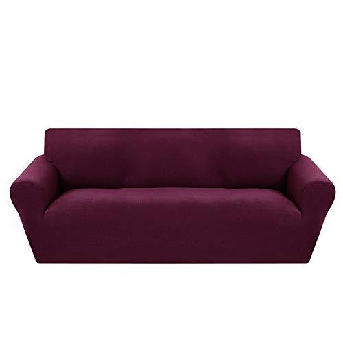 LCDIEB Funda de sofá Fundas Modernas de Jacquard para sofás para Sala de Estar, sillones, Fundas seccionales para sofás, Fundas elásticas elásticas para sofá, Envoltura Ajustada, Morado, A, B 90,140