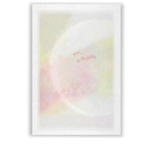 高級紙 私製 喪中はがき 文例印刷入 50枚 デザインNo.589(無地)