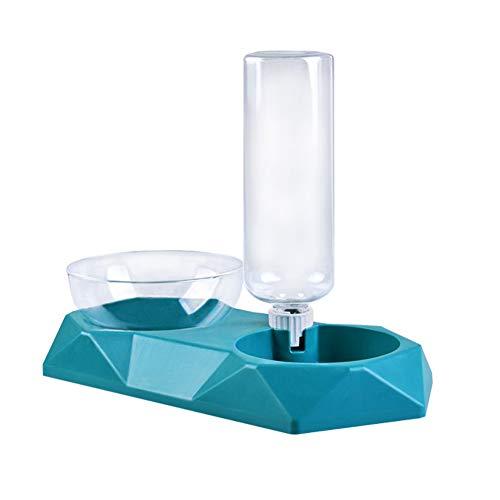 LeerKing Automatischer Futter und Wasserspender mit Futternapf Fressnäpfe Wasserautomat Trinknapf für Katzen Hunde Kaninchen und Kleintiere Futterautomat Hund Schüssel Wassertränke, Eisblau