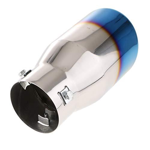 YXWEI® 76mm Edelstahl Car Auspuff-Endstück-Schalldämpfer Schalldämpfer (Color : Silver and Blue 76m)