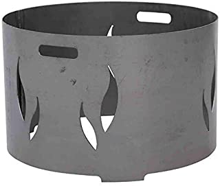 linoows Feuerschalenaufsatz mit Flammenmotiv für 75 cm Feuerschale, Flammendesign Stahl