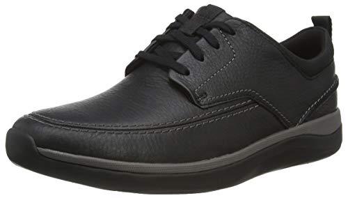 Clarks Herren Garratt Street_Derbyss Derby, Schwarz (Black Leather), 42 EU
