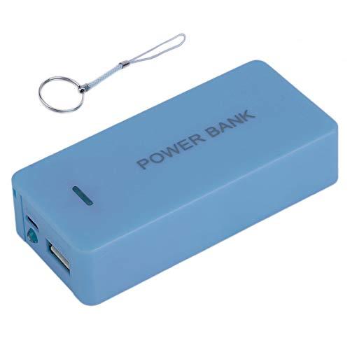 Goldyqin Batería portátil Power Bank Estuche Batería de Reserva Externa móvil Powerbank 5600mAh USB Cargador Universal Adecuado para teléfono - Azul
