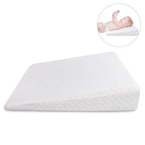 Baby Keil-Kissen Anti-Reflux Koliken Verstopfung Mit Atmungsaktivem Memory-Schaum 12 ° Steigung Rutschfest Für Bett/Kinderbett/Matratze/Stubenwagen