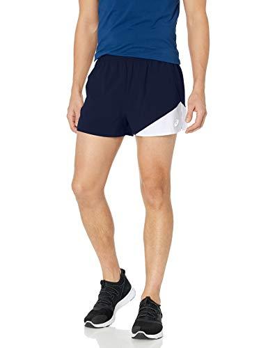 ASICS Gunlap 1/2 Split - Pantalones Cortos para Hombre, Gunlap 1/2 Split Corto, Hombre, Color Azul y Blanco, tamaño XXL