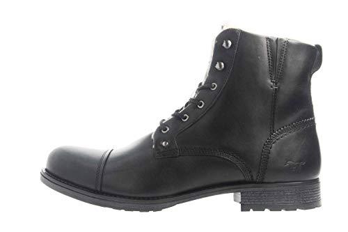 MUSTANG Shoes Stiefeletten in Übergrößen Schwarz 4865-608-9 große Herrenschuhe, Größe:48