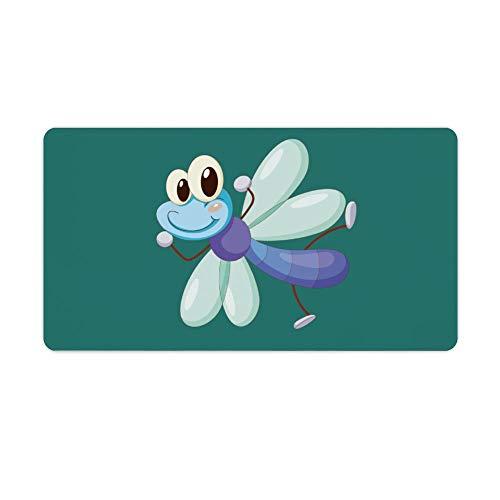 Mauspad,Schreibtischpad,Tastaturpad können definiert werden.Comic Libelle.Das exquisite Mauspad macht Ihre Arbeit und Spiele effizienter und komfortabler! 40X75cm