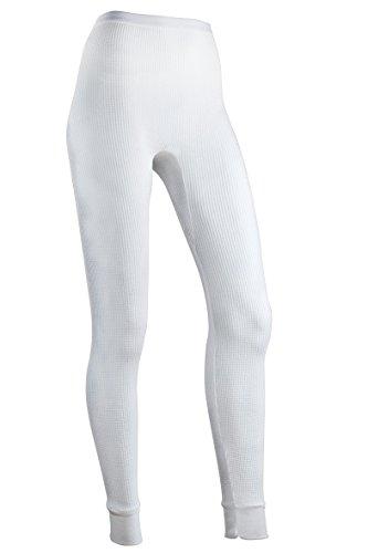 Indera Women's Warmwear Traditional Thermal Underwear Pant, White, Large