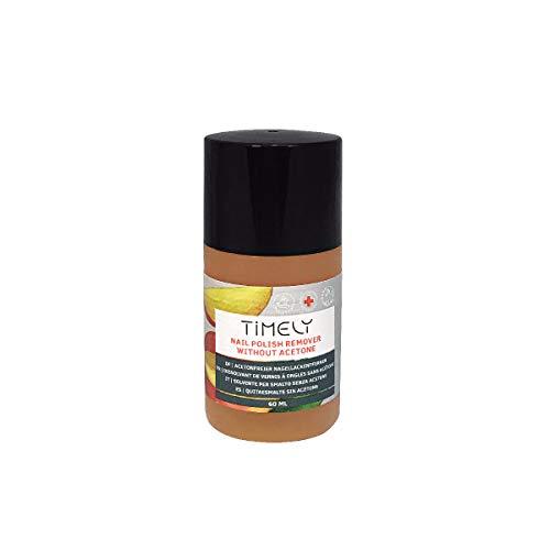Timely, solvente per unghie senza acetone, con vitamine E e A e proteine della seta, formato piccolo, 60 ml