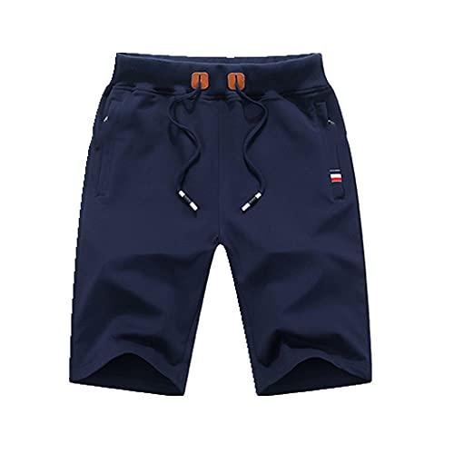 Pantalones cortos de verano de los hombres pantalones cortos de algodón puro casual blanco y negro pantalones de playa de los hombres de los hombres