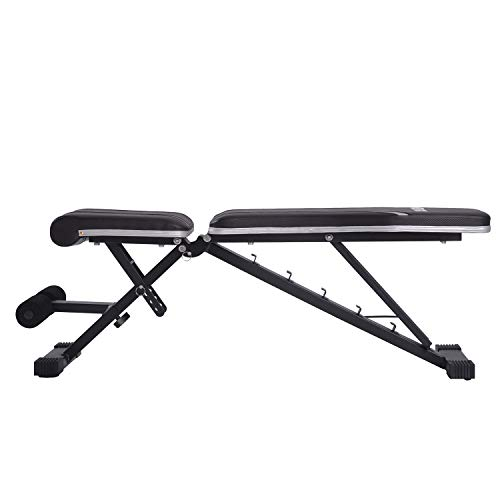 Merax Adjustable Bench,Incline Decline Weight Bench for Full Body Workout, Multi-Purpose Foldable Weight Bench Flat/Incline/Decline Bench